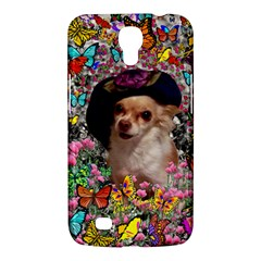 Chi Chi In Butterflies, Chihuahua Dog In Cute Hat Samsung Galaxy Mega 6 3  I9200 Hardshell Case by DianeClancy