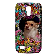 Chi Chi In Butterflies, Chihuahua Dog In Cute Hat Galaxy S4 Mini by DianeClancy