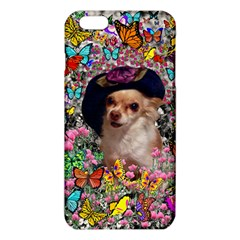 Chi Chi In Butterflies, Chihuahua Dog In Cute Hat Iphone 6 Plus/6s Plus Tpu Case by DianeClancy