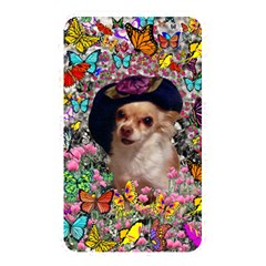 Chi Chi In Butterflies, Chihuahua Dog In Cute Hat Memory Card Reader by DianeClancy