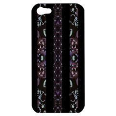 Oriental Floral Stripes Apple Iphone 5 Hardshell Case by dflcprints