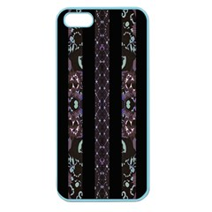 Oriental Floral Stripes Apple Seamless Iphone 5 Case (color) by dflcprints
