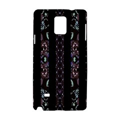 Oriental Floral Stripes Samsung Galaxy Note 4 Hardshell Case by dflcprints