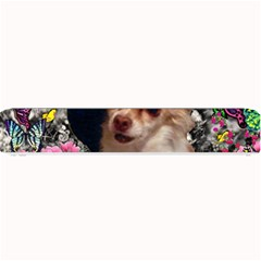 Chi Chi In Butterflies, Chihuahua Dog In Cute Hat Small Bar Mats by DianeClancy