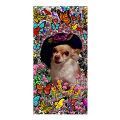 Chi Chi In Butterflies, Chihuahua Dog In Cute Hat Shower Curtain 36  X 72  (stall)  by DianeClancy