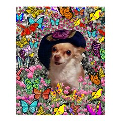 Chi Chi In Butterflies, Chihuahua Dog In Cute Hat Shower Curtain 60  X 72  (medium)  by DianeClancy