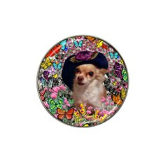 Chi Chi In Butterflies, Chihuahua Dog In Cute Hat Hat Clip Ball Marker (10 Pack) by DianeClancy