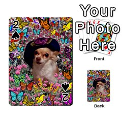 Chi Chi In Butterflies, Chihuahua Dog In Cute Hat Playing Cards 54 Designs