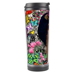Chi Chi In Butterflies, Chihuahua Dog In Cute Hat Travel Tumbler by DianeClancy