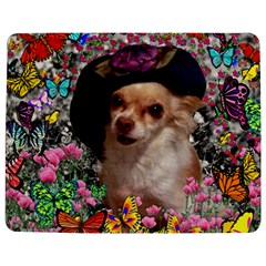 Chi Chi In Butterflies, Chihuahua Dog In Cute Hat Jigsaw Puzzle Photo Stand (rectangular) by DianeClancy