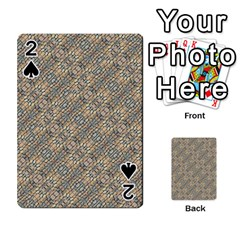 Cobblestone Geometric Texture Playing Cards 54 Designs  by dflcprints