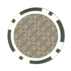 Cobblestone Geometric Texture Poker Chip Card Guards by dflcprints