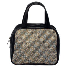 Cobblestone Geometric Texture Classic Handbags (one Side) by dflcprints