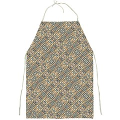 Cobblestone Geometric Texture Full Print Aprons by dflcprints