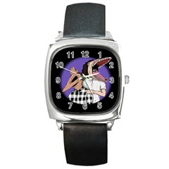 Family Portrait Of The Recently Deceased Square Metal Watch by lvbart