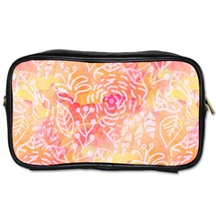 Sunny Floral Watercolor Toiletries Bags 2 Side by KirstenStar