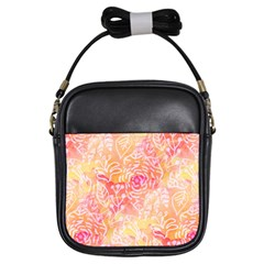 Sunny Floral Watercolor Girls Sling Bags by KirstenStar
