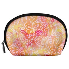 Sunny Floral Watercolor Accessory Pouches (large)  by KirstenStar