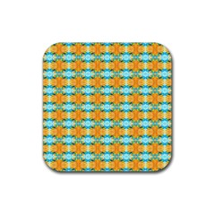 Dragonflies Summer Pattern Rubber Coaster (square)
