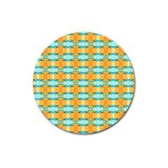 Dragonflies Summer Pattern Magnet 3  (round) by Costasonlineshop