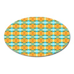 Dragonflies Summer Pattern Oval Magnet