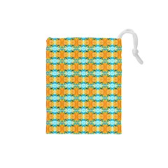 Dragonflies Summer Pattern Drawstring Pouches (small)