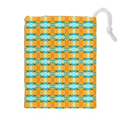 Dragonflies Summer Pattern Drawstring Pouches (extra Large)