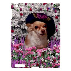 Chi Chi In Flowers, Chihuahua Puppy In Cute Hat Apple Ipad 3/4 Hardshell Case by DianeClancy