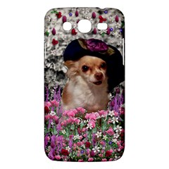 Chi Chi In Flowers, Chihuahua Puppy In Cute Hat Samsung Galaxy Mega 5 8 I9152 Hardshell Case  by DianeClancy