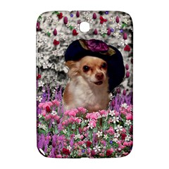 Chi Chi In Flowers, Chihuahua Puppy In Cute Hat Samsung Galaxy Note 8 0 N5100 Hardshell Case  by DianeClancy