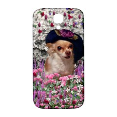 Chi Chi In Flowers, Chihuahua Puppy In Cute Hat Samsung Galaxy S4 I9500/i9505  Hardshell Back Case by DianeClancy