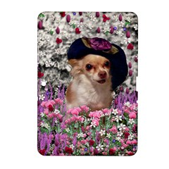 Chi Chi In Flowers, Chihuahua Puppy In Cute Hat Samsung Galaxy Tab 2 (10 1 ) P5100 Hardshell Case  by DianeClancy