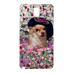 Chi Chi In Flowers, Chihuahua Puppy In Cute Hat Samsung Galaxy Note 3 N9005 Hardshell Back Case by DianeClancy