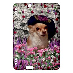 Chi Chi In Flowers, Chihuahua Puppy In Cute Hat Kindle Fire Hdx Hardshell Case by DianeClancy