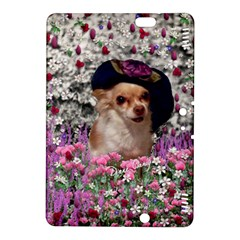 Chi Chi In Flowers, Chihuahua Puppy In Cute Hat Kindle Fire Hdx 8 9  Hardshell Case by DianeClancy