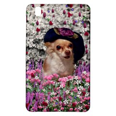 Chi Chi In Flowers, Chihuahua Puppy In Cute Hat Samsung Galaxy Tab Pro 8 4 Hardshell Case by DianeClancy