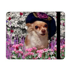 Chi Chi In Flowers, Chihuahua Puppy In Cute Hat Samsung Galaxy Tab Pro 8 4  Flip Case by DianeClancy