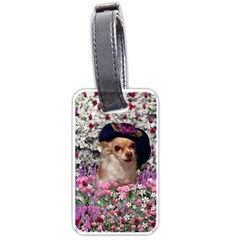 Chi Chi In Flowers, Chihuahua Puppy In Cute Hat Luggage Tags (two Sides) by DianeClancy