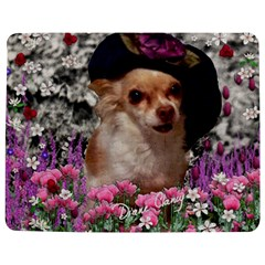 Chi Chi In Flowers, Chihuahua Puppy In Cute Hat Jigsaw Puzzle Photo Stand (rectangular) by DianeClancy