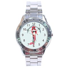 Bad Mermaid Stainless Steel Analogue Watch by lvbart