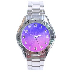 Ombre Purple Pink Stainless Steel Analogue Watch by BrightVibesDesign