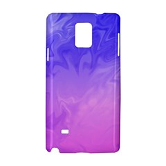 Ombre Purple Pink Samsung Galaxy Note 4 Hardshell Case by BrightVibesDesign