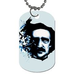 Edgar Allan Poe Crows Dog Tag (two Sides) by lvbart