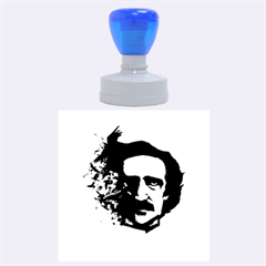 Edgar Allan Poe Crows Rubber Round Stamps (large) by lvbart
