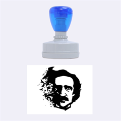 Edgar Allan Poe Crows Rubber Oval Stamps