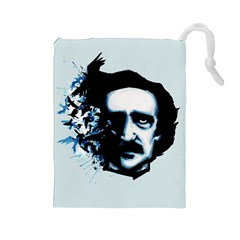 Edgar Allan Poe Crows Drawstring Pouches (large)