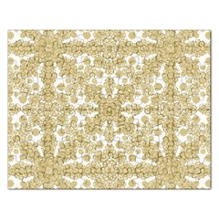 Golden Floral Boho Chic Rectangular Jigsaw Puzzl by dflcprints