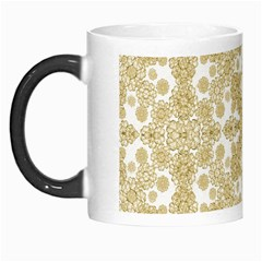 Golden Floral Boho Chic Morph Mugs by dflcprints