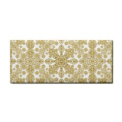 Golden Floral Boho Chic Hand Towel by dflcprints