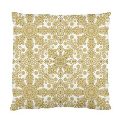 Golden Floral Boho Chic Standard Cushion Case (one Side) by dflcprints